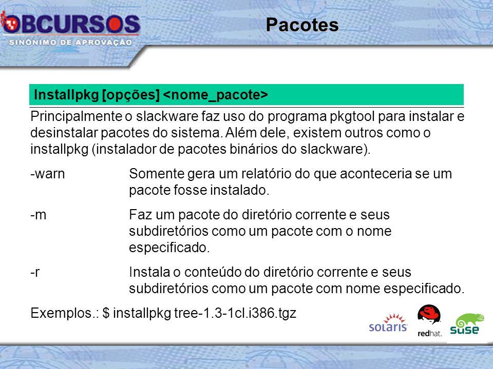 Pacotes Installpkg [opções] <nome_pacote>